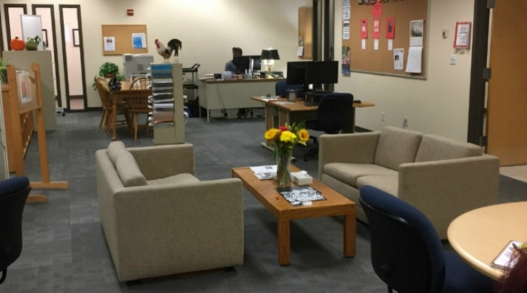 The Writing Center is connected to the library, room 118.