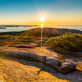 A sunset over Acadia National Park.