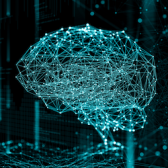 Digital image of a neural network.