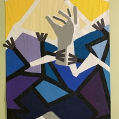 """Open Submission, Acrylic, 24""""X48"""""""