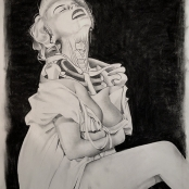 """Open Submission, Graphite & Charcoal, 22""""X30"""""""