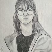 """Self Portrait, Willow Charcoal, 18""""X24"""""""