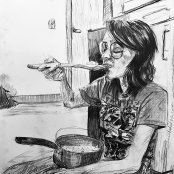 """Drawing, Charcoal, 24""""X18:"""
