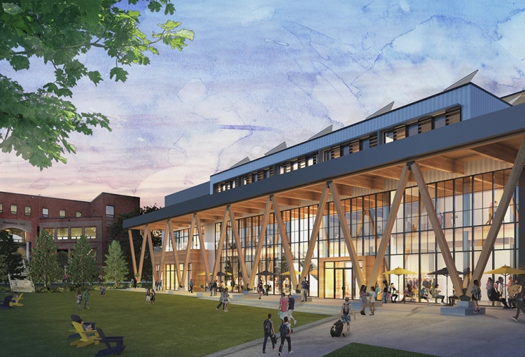 An architect's rendering of the new Career and Student Success Center