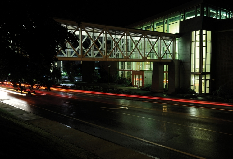 Abromson Center at night