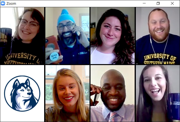 A screenshot of some of our Admissions Counselors in a Zoom meeting.