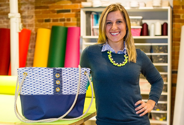 Alaina Marie, founder of Bait Bags in Portland, ME