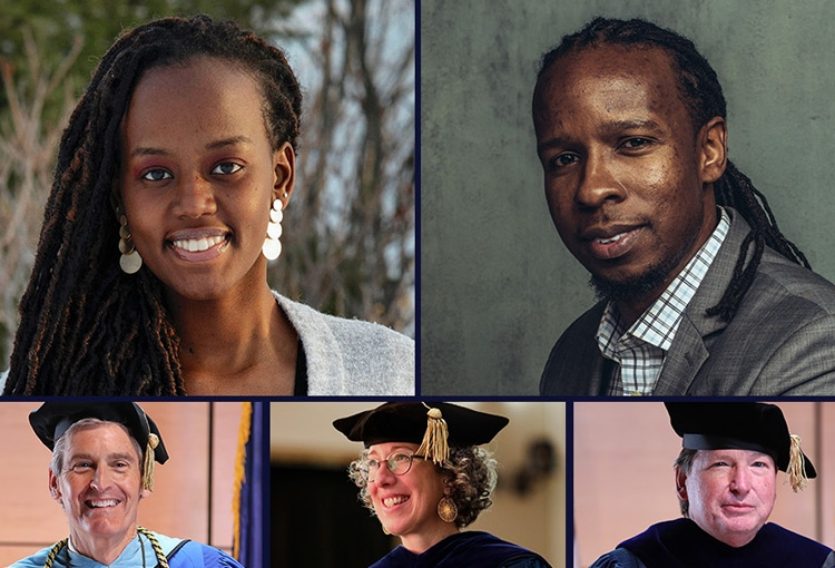 A composite of Commencement 2021 speakers