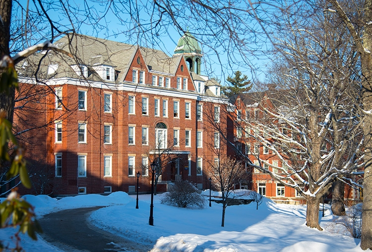 Robie Andrews Hall on a day following a snowstorm