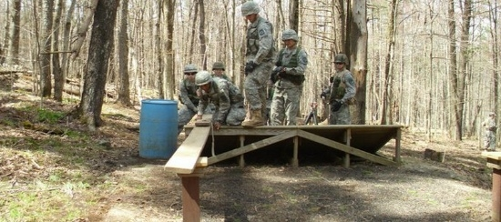 cadets go through the flrc course