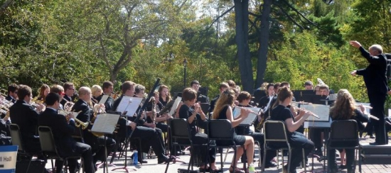 Old-Fashioned Outdoor Band Concert