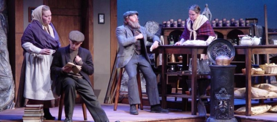 "USM students in the 2013-2014 production of ""The Cripple of Inishmaan"""