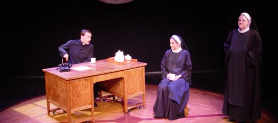 "USM students in the 2013-2014 production of ""Doubt"""