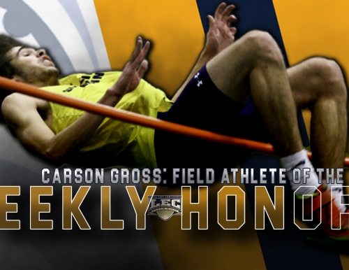 Carson Gross Named Little East Conference Men's Rookie Field Athlete of the Week