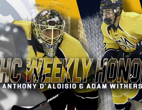 USM men's ice hockey players receive weekly league honors