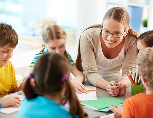 Image of Teacher and Students
