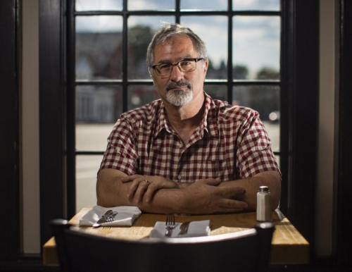 Portland Press Herald photo of Professor Michael Hillard