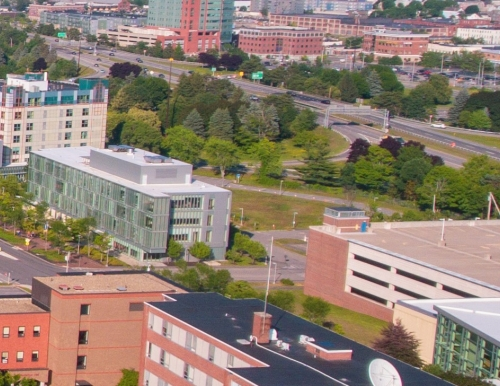 Overlooking Grass Lot of Portland Campus