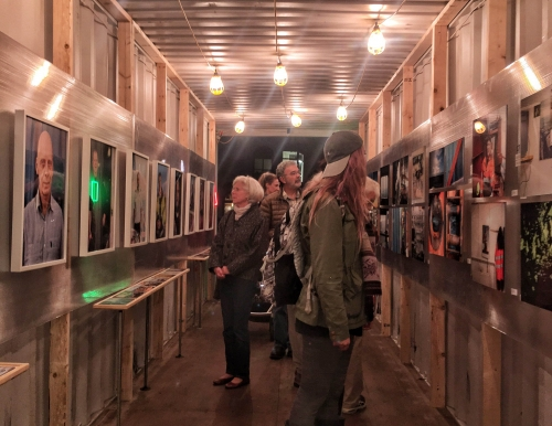 USM alumnus Justin Levesque's shipping container art display