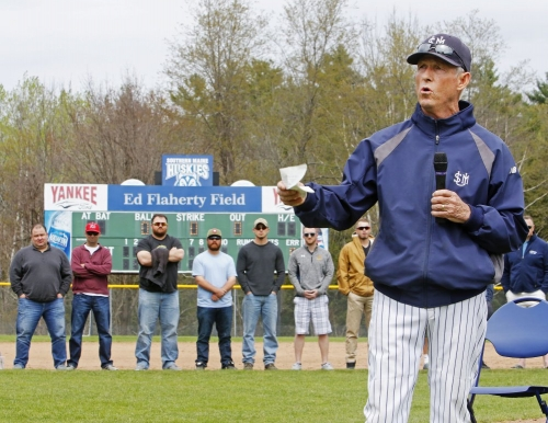 Portland Press Herald image of Coach Ed Flaherty