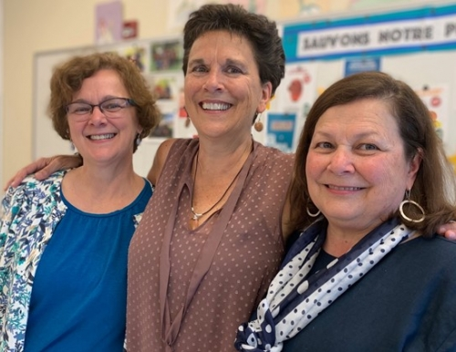 From left: Theresa LaPlane, Sue Donovan, Cecile LaPlante. Courtesy of NewsCenter Maine