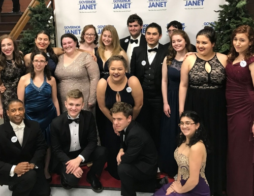 Chamber Singers at Gov Mills inaugural ball