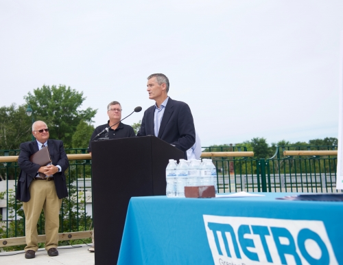 President Glenn Cummings at METRO announcement