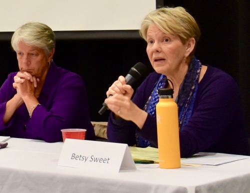 Gubernatorial candidates Terry Hayes and Betsy Sweet