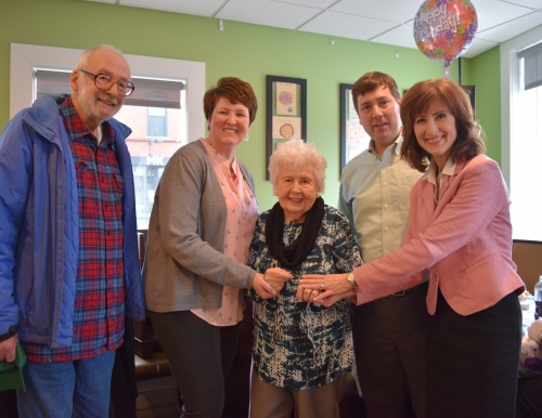 Helen Heel celebrates her 97th birthday