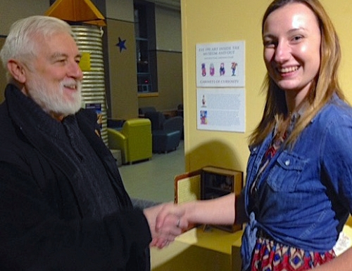 Crypto Museum Dir Loren Coleman and USM student Anna Howarth