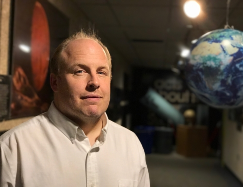 Edward Gleason of USM's Southworth Planetarium