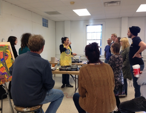 US Visiting Artist Gina Adams leads a workshop