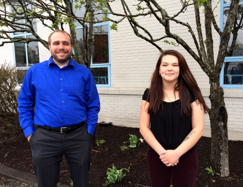 Aaron Witham and Asia DiBenedetti, USM Office of Sustainability