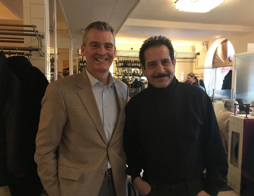 USM President Glenn Cummings and Tony Shalhoub '77
