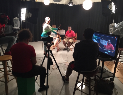 H.S. students from Portland create videos at USM's Communication & Media Studies Production Center