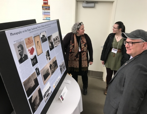 USM Professor Libby Bischof presenting a poster
