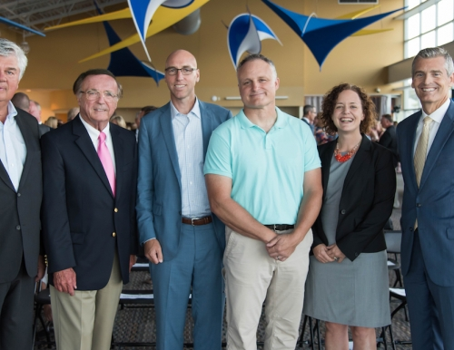 MEMIC Board Chair, CEO (outgoing and current) and USM faculty, staff and President
