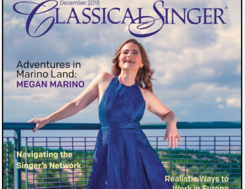 Megan Marino on Classical Singer Magazine cover
