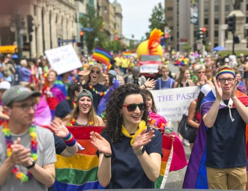 USM students march in the 2018 Pride Parade