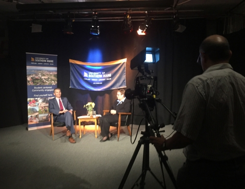 Photo of taping of the first episode of the USM Update