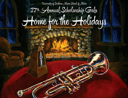 "artwork for the 27th annual ""Home for the Holidays"" gala"