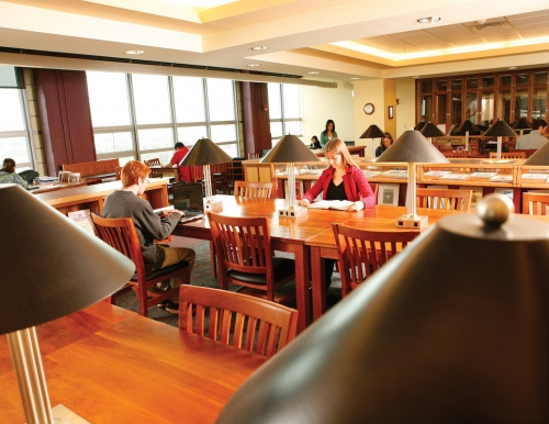 USM Students studying in the library
