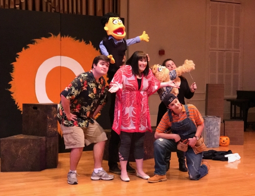 "Cast members from ""Avenue Q"""