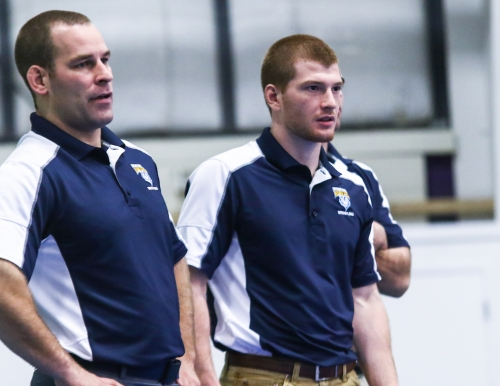 Mike Morin, the head coach of the University of Southern Maine wrestling team