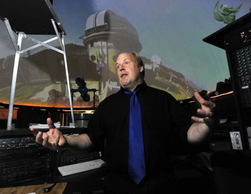 USM's Southworth Planetarium manager, Edward Gleason