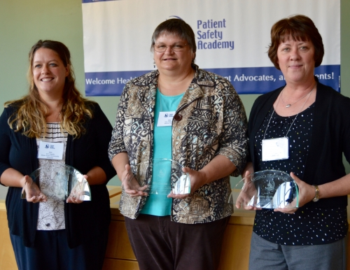 Rising Tide Award winners Erin Ingalls, Rita Owsiak and Donna McEachern