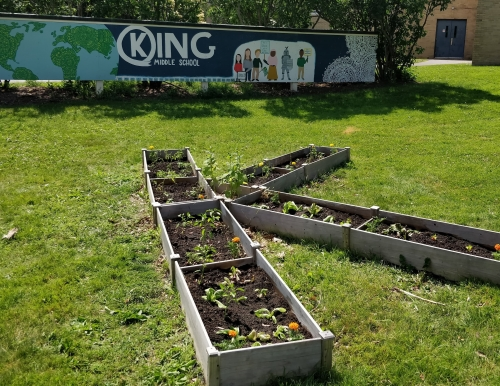 Garden at King Middle