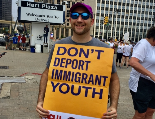 Aaron Hamburger for immigrant rights