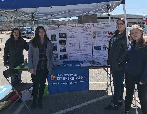 Eco-reps at booth at Bike Swap Event