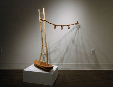 Lin Lisberger's sculpture at Chazan Gallery